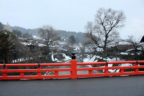 The famous bridge in Takayama