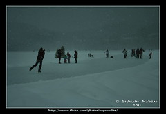 Patinoire... Skating Rink (Supersyl08) Tags: winter lake snow hockey hiver snowstorm lac neige skatingrink patinoire temptedeneige chantecler hotellechantecler