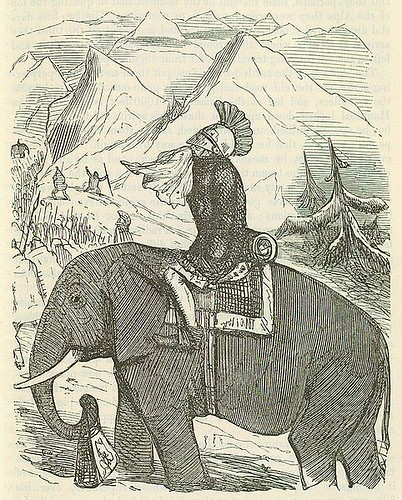 482px-Comic_History_of_Rome_p_173_Hannibal_crossing_the_Alps