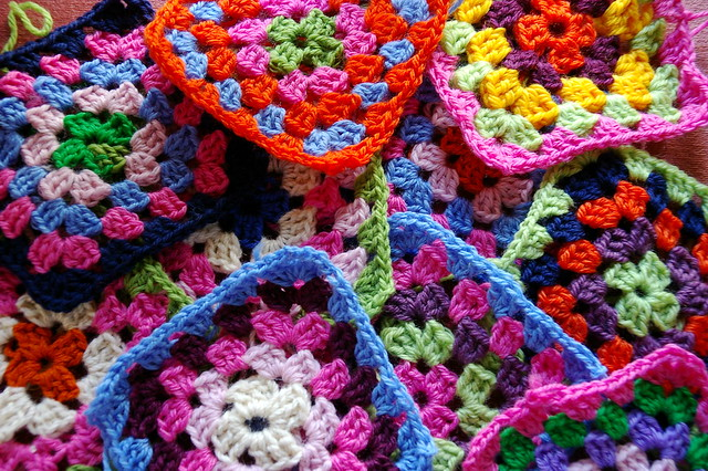granny squares for the floods/earthquake/tsunami appeal