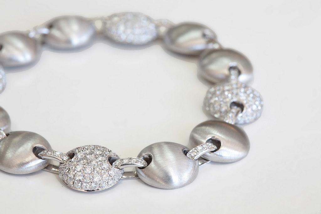 Contemporary Diamond Bracelet,18k w.g., 3.61 ct. tw. - $6,400