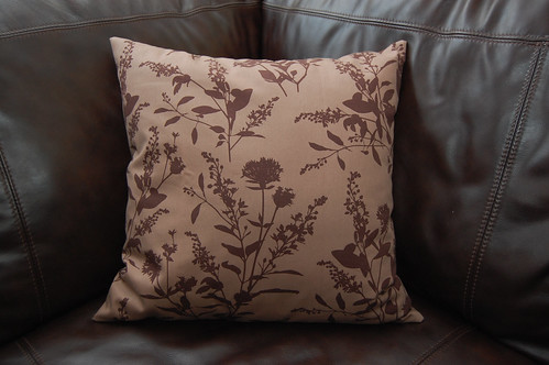the brown pillow
