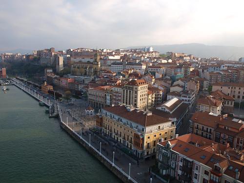 Portugalete desde el Puente Bizkaia