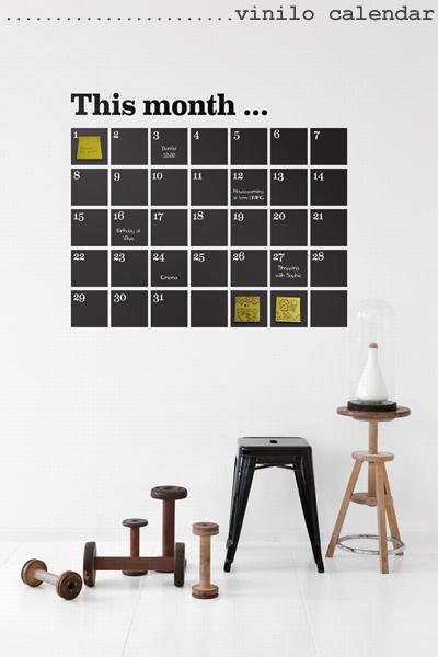3 vinilo calendar