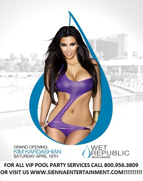 Wet Republic Pool Party at MGM Grand Las Vegas presents their grand opening with Kim Kardashian by Sienna Entertainment