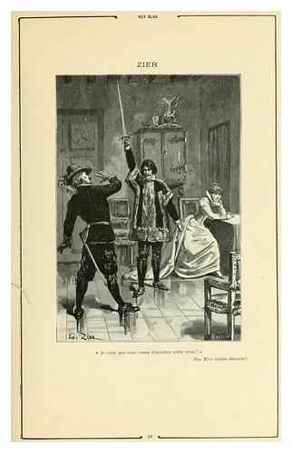012-Ruy Blas-Cent dessins  extraits des oeuvres de Victor Hugo  album specimen (1800)