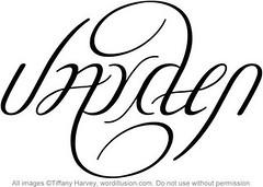 """Jayden"" Ambigram, v.2"