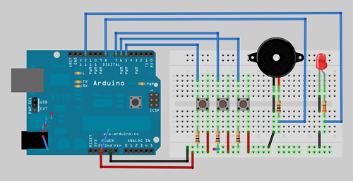 Ringtone Jukebox Breadboard Layout