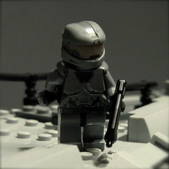 LEGO Halo: Reach Courtyard Firefight (Noble 6) ([Renegade]) Tags: 6 team jackal lego halo courtyard creation elite reach six own grunt firefight noble moc