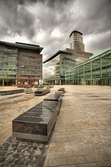 199/1000 - Salford, Media City 1 (Mark Carline) Tags: city uk manchester media salford hdr gupr