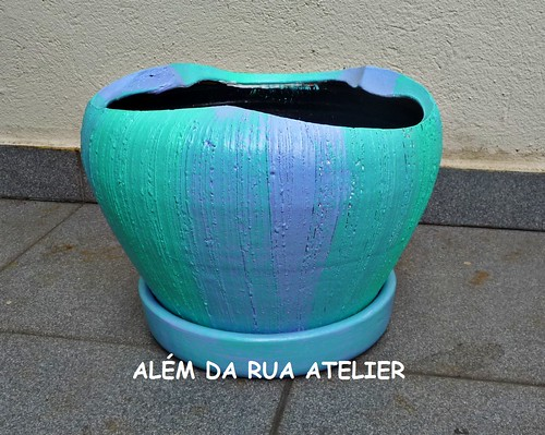 Vaso de Cerâmica Pintado à Mão