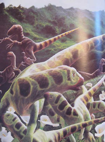 Dinosaur for a Day - page 16/17 painting by Mark Alan Weatherby
