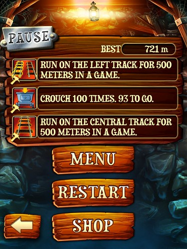 Rail Rush Pause Menu: screenshots, UI