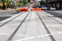 CBD & South East Light Rail - Update 9 October 2016 - Kensington trackwork 2 (john cowper) Tags: cselr kensington track construction sydneylightrail infrastructure lightrail anzacparade doncasteravenue sydney newsouthwales