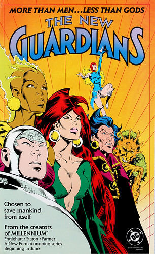 DC Comics promotional poster - The New Guardians - 1988