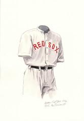 Boston Red Sox 1912 uniform artwork (Scott Sillcox) Tags: heritage history vintage uniform baseball 1912 bostonredsox throwback mlb bostonamericans
