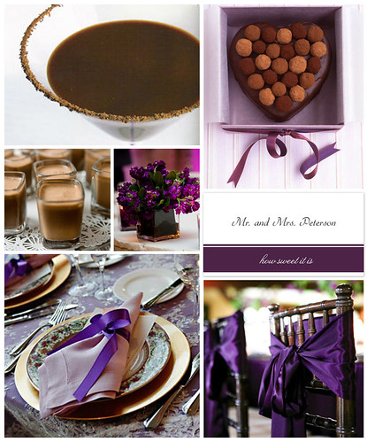 Passionate Purple Valentine's Day Dinner