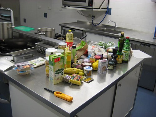 Ingredients for the 'Eat Good, Feel Good' vegan cooking class (27-01-2011)