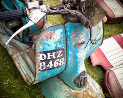 Indian Lambretta with hand-painted number plate