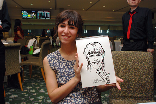 caricature live sketching for Thorn Business Associates Appreciate Night 2011 - 39