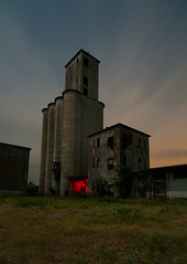 Location, Location, Location... (Noel Kerns) Tags: county abandoned night texas elevator grain silo navarro