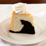 Black and White Angel Food Cake