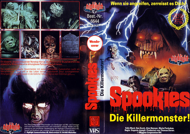 Spookies 1(VHS Box Art)