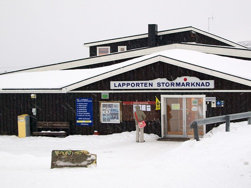 The one and only shop in Abisko