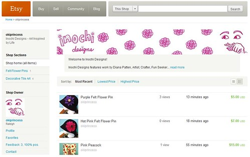 Inochi Designs is Now on Etsy