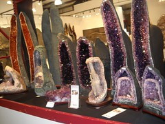 Amethyst and more at Tucson (kimforbeads) Tags: rock stone rocks purple natural tucson mineral amethyst gorgeousamethyst