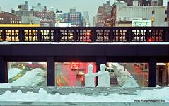 Friends (Rafakoy) Tags: city nyc longexposure winter light urban snow ny newyork cold film car night 35mm season 50mm lights chelsea dusk manhattan negative late epson chelseamarket c41 canonef50mmf14usm 2011 kodakportra400 canoneoselan7n eoselan7n epsonv600 epsonperfectionv600photo epsonperfectionv600