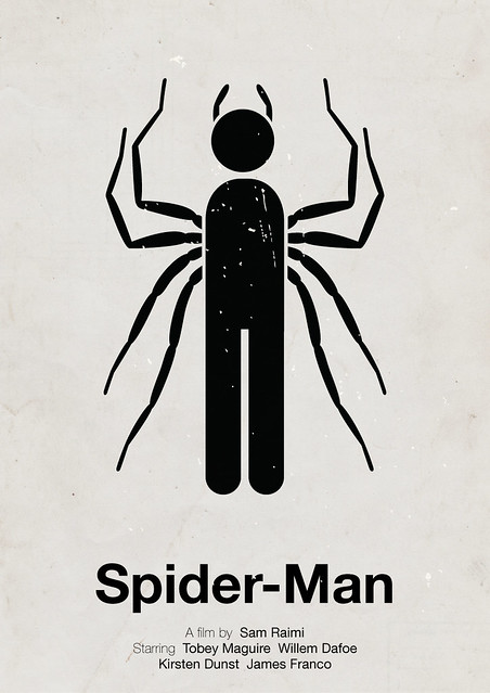 Spider-Man pictogram movie poster