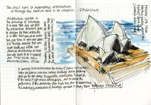 110204 Understanding Architecture through Drawing - how about the Sydney Opera House?