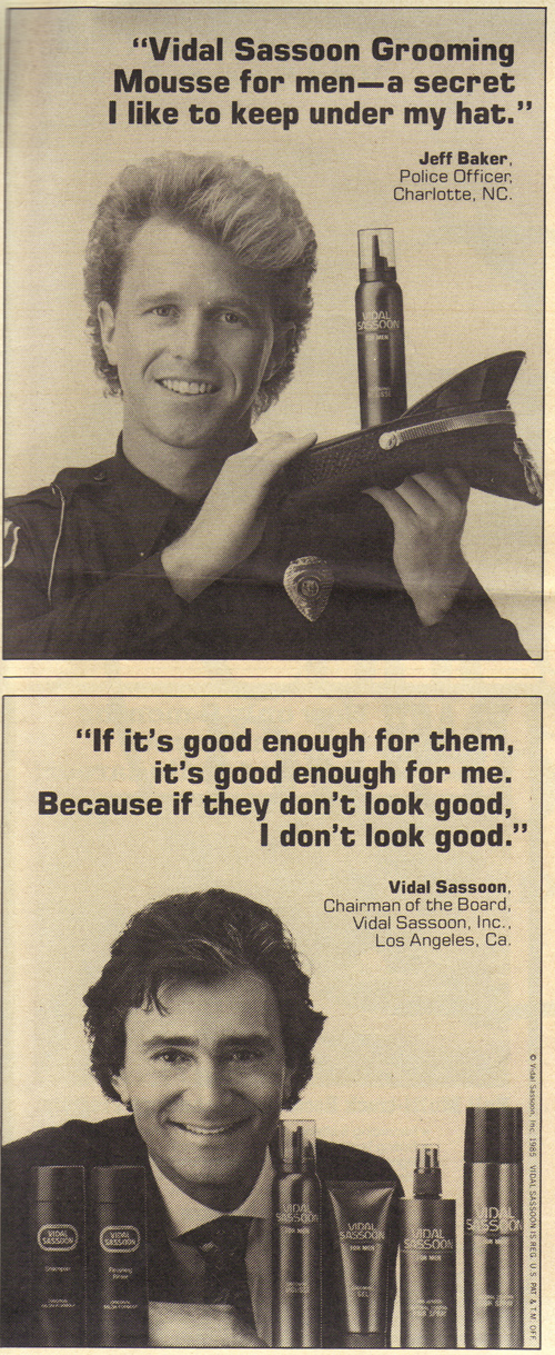 Vintage Ad #1,410: Praise for Vidal Sassoon Products (3)