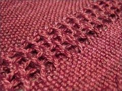 Red Marin Silk wrap, close up