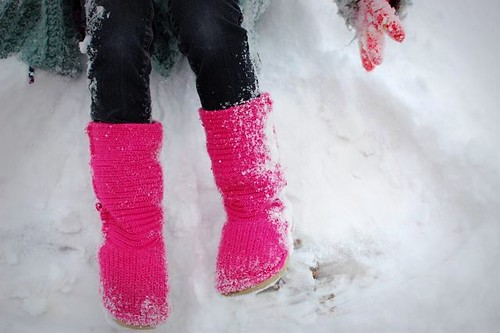 what they wear : snow on boots