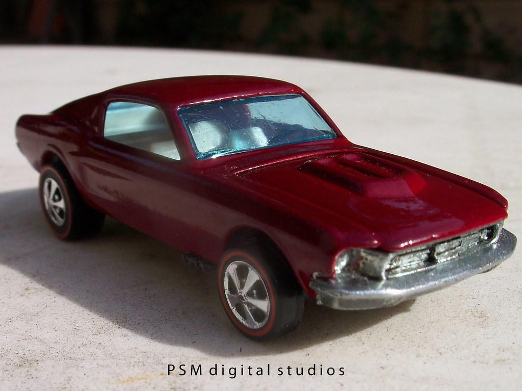 1967 Mustang Fastback Restored Hot Wheels Redline
