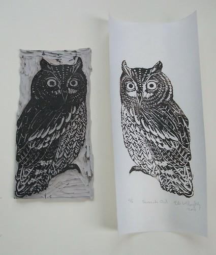 Screech-Owl print & block