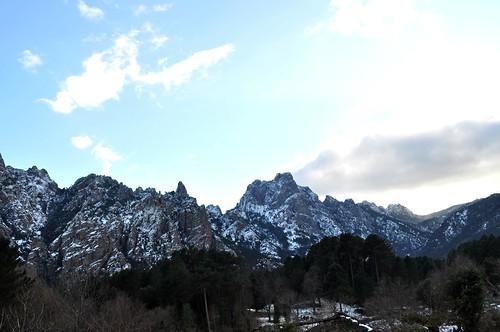 Piste forestière du San Petru : vue sur les Ferriate et Tafunata di Paliri