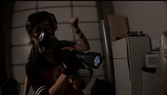 Look Out! (noirgirls) Tags: fetish video noir heroine horror gasmask distress peril damsel ryona tobatsu