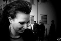 Again (LaKry*) Tags: wedding portrait blackandwhite laura girl smile grey bride blackwhite grigio marriage sorriso ritratto matrimonio biancoenero sposa lau ragazza