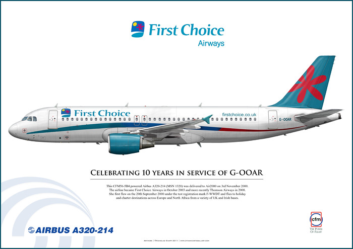 First Choice Airways Airbus A320-214 G-OOAR