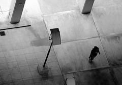Sola en la noche (carlos_ar2000) Tags: street shadow woman argentina girl silhouette night noche calle mujer buenosaires chica sombra montserrat column silueta columna