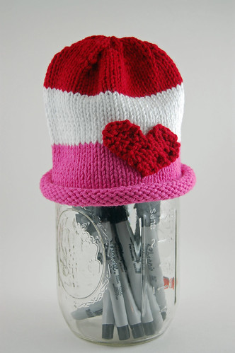 Red and Pink Stripes Hat