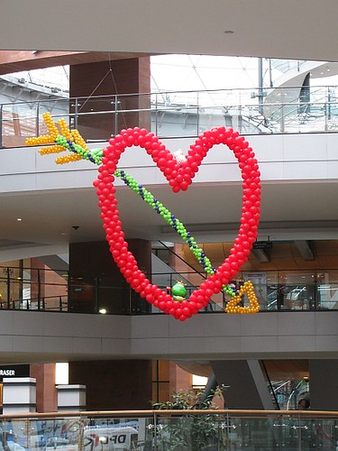 Heart Shaped Balloons and Arrow