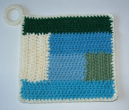 Log Cabin Potholder Pattern