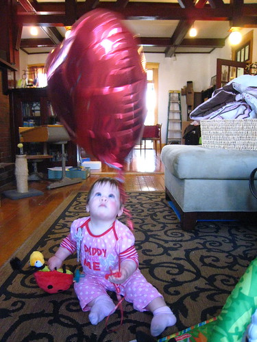 Daddy gave me a balloon!