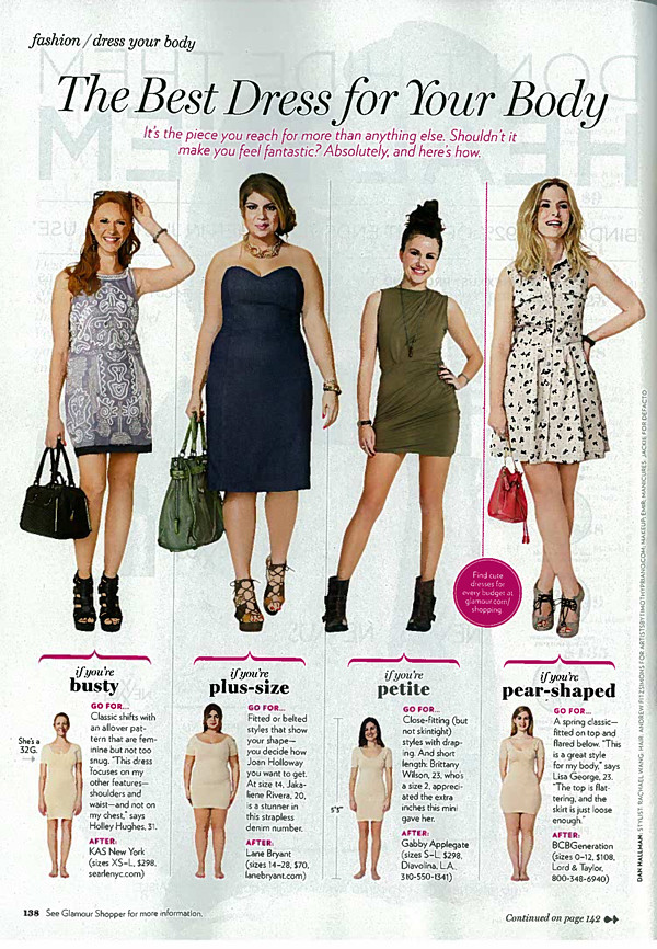 Glamour Magazine Picks Dresses for Petites – March 2011 Issue