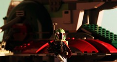 Boba Fett's Arrival (Blockaderunner) Tags: city cloud star back lego boba wars strikes bespin fett slave1 empier
