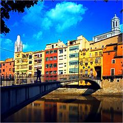 girona (thomasw.) Tags: travel analog spain europa europe cross girona espana catalunya spanien crossed katalonien mamiya7